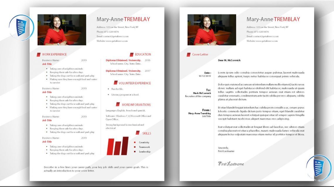 Get A Free Cv Templates Examples Writing Tips