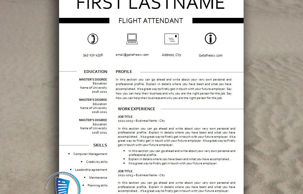 Creative Classic Look CV Resume Template