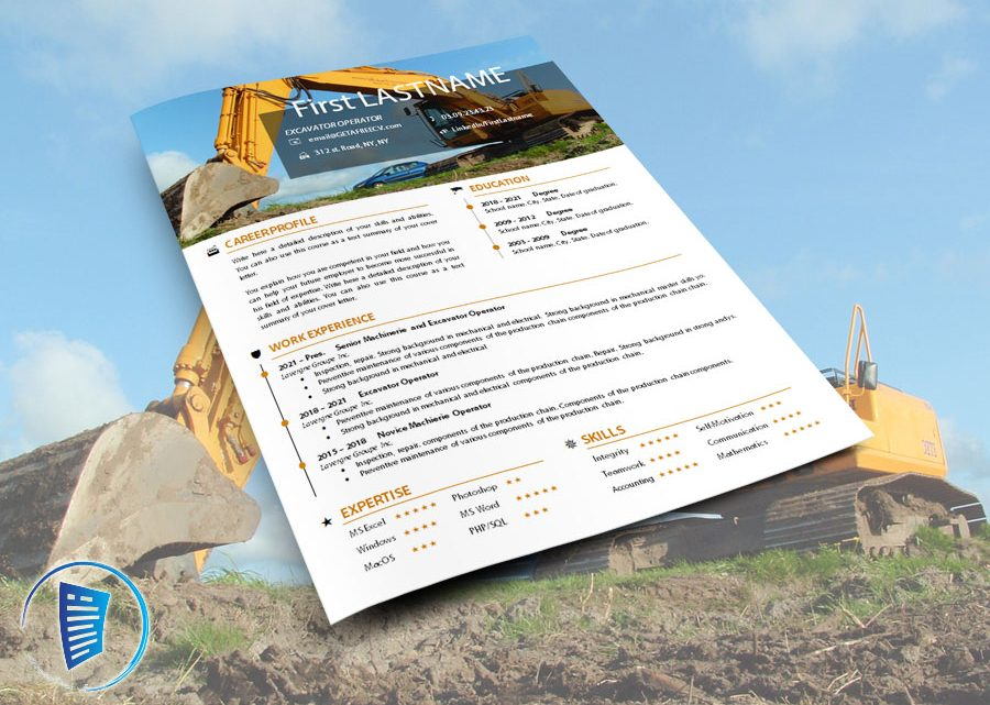 Excavator operator resume template